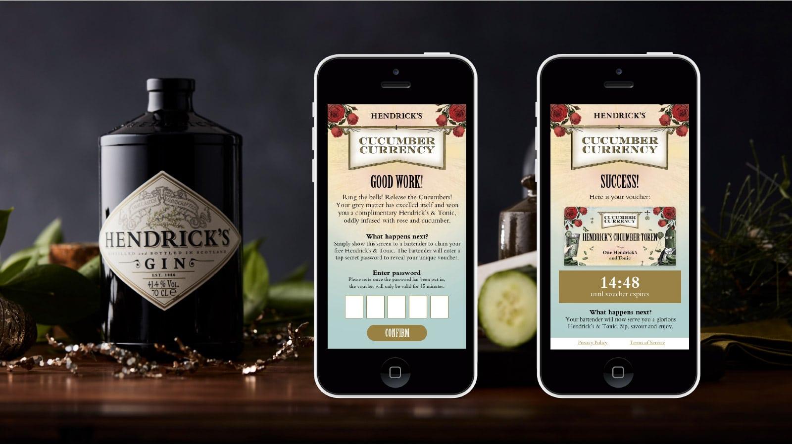 Hendricks Cucumber Currency App Visual