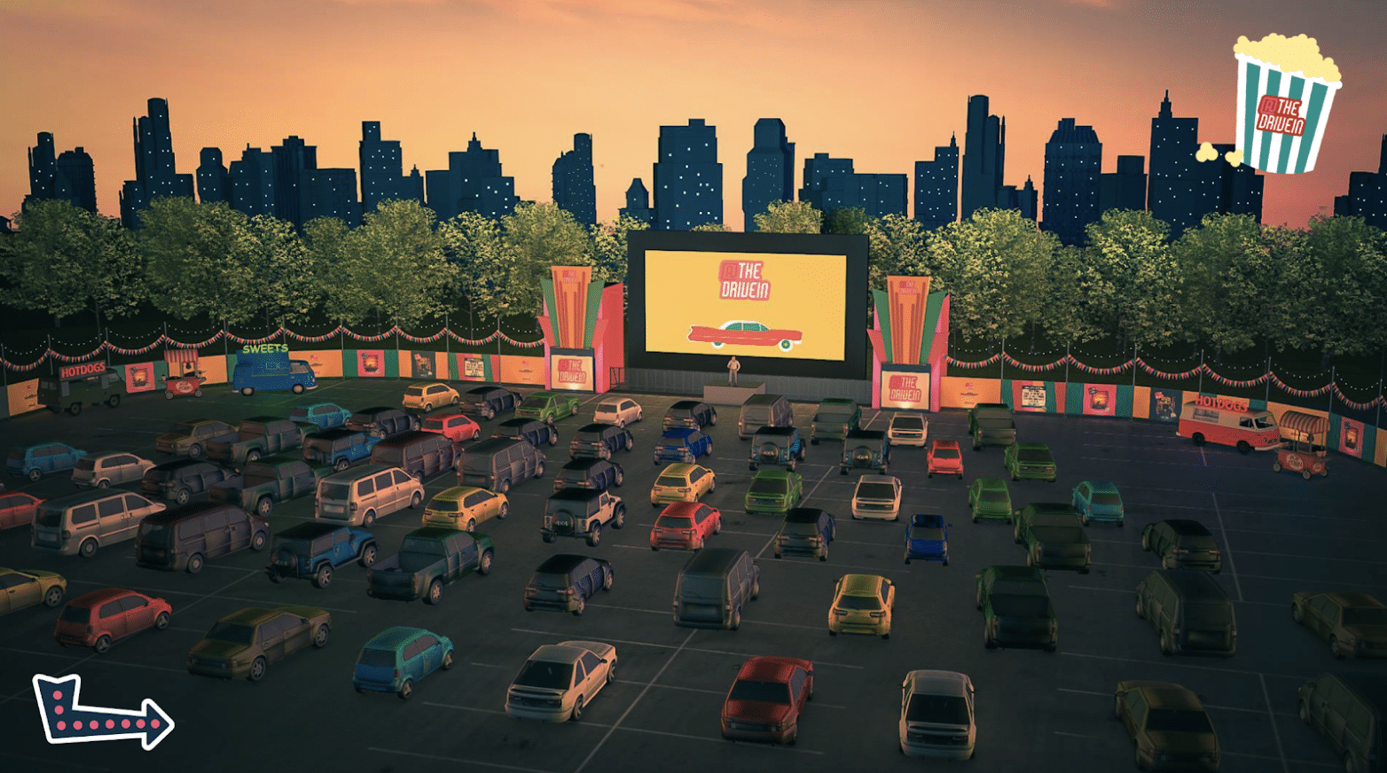 the drive in cinema